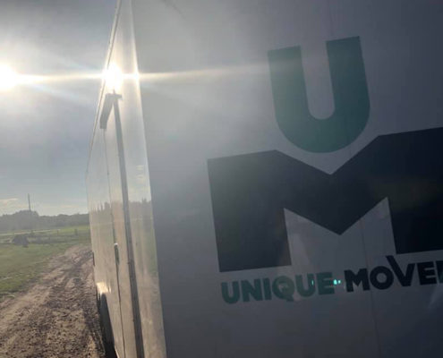 Unique Movers trailer with sun spot