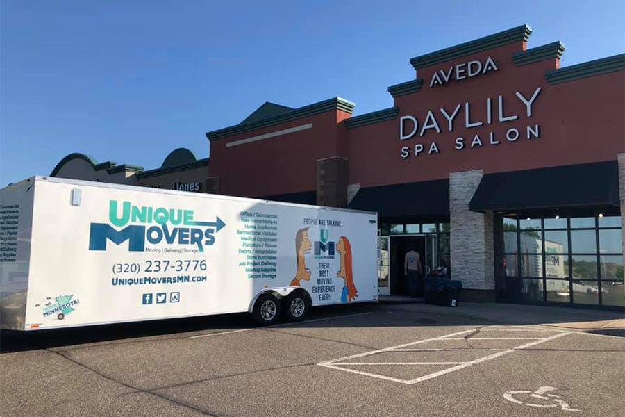 Unique Movers Commercial Move for Day Lily Spa