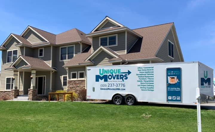Unique Movers residential moving. Our team moved this Sartell family into their new home