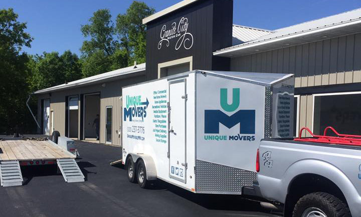 Unique Movers commercial moving. Our team moved Granite City Motor Car into their new St. Joseph location