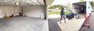 Panorama of Garage and Loading Truck and Crew in Minnesota