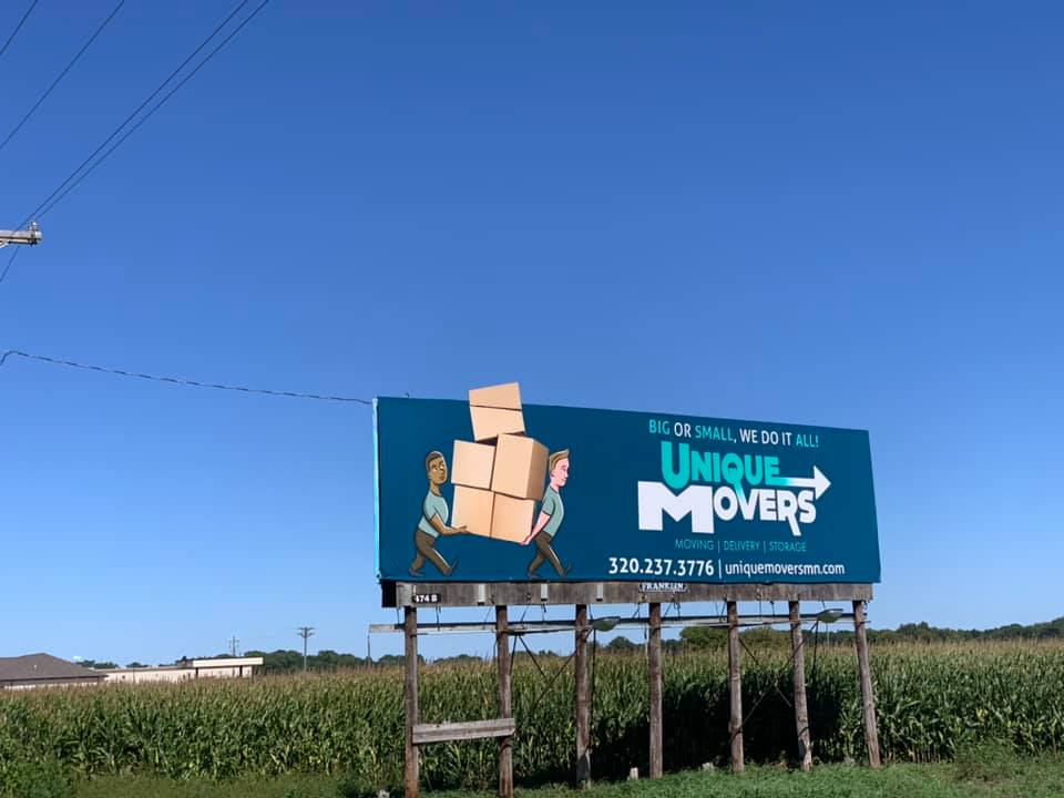 Unique Movers Billboard Near Kimball, MN