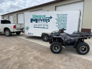 Specialty Move Vehicle Move 4-wheeler move St. Joseph MN to Randall MN