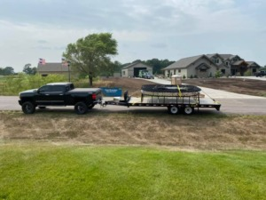 Home Move Central Minnesota specialty moving trampoline